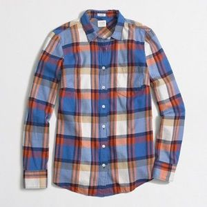 J CREW Perfect Fit Flannel Button Down Shirt